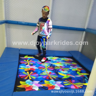 DJIP03 Hot sales interactive trampoline projection games