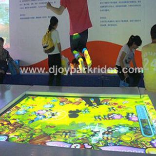 DJIP09 Newest trampoline interactive projection game